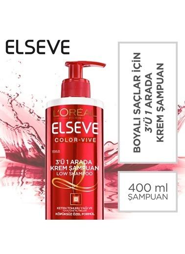 L'Oréal Paris Elseve Krem Şampuan 3'ü 1 Arada 400 Ml Colorvive Renksiz